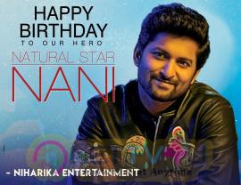 Nani Birthday Wishes Poster Niharika Entertainment Telugu Gallery