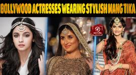 Top 10 Bollywood Actresses Wearing Stylish Mang Tika.