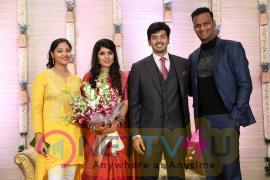 Actor Ashwin Kakumanu And Sonali Wedding Reception Stills