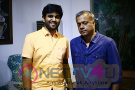 Director Gautham Menon Launched Mathiyaal Vell Single Track Stills Tamil Gallery