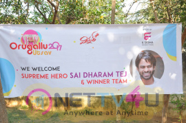 Stills Of Actor Sai Dharam Tej Launhes Orugallu Ustav Festival Poster At Hanamakonda Telugu Gallery