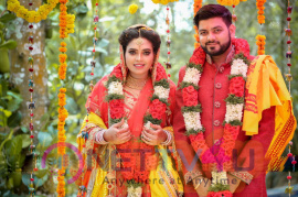 Actress Ishara Nair - Sahil Wedding Images  Tamil Gallery