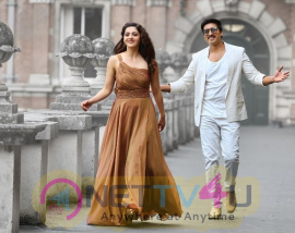 Gopichand And Mehreen Stunning Still From The Movie Pantham