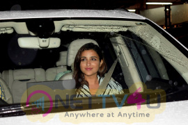 Alia Bhatt And Parineeti Chopra Spotted At Priyanka Chopra's House In Juhu Beautiful Images Hindi Gallery
