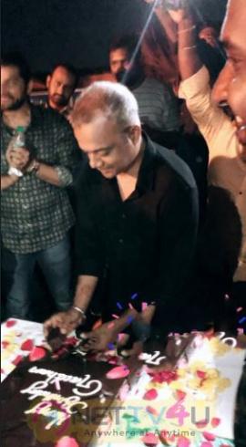 Gautham Menon Birthday Celebration At Dhruva Natchathiram Team Images