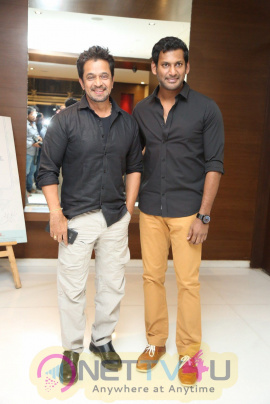 Abhimanyudu Movie Press Meet Pics  Telugu Gallery