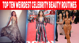 Top Ten Weirdest Celebrity Beauty Routines
