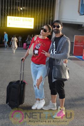 Actors Ashmit Patel And Mahek Chahal Spotted At Airport In Mumbai Stills Hindi Gallery
