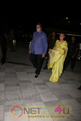 Amitabh Bachchan At Opening Preview Of Dilip De's Art Exhibition Photos Hindi Gallery