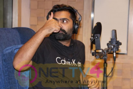 STR Dubs For His Portions In Jyotika Starrer Kaatrin Mozhi Pics