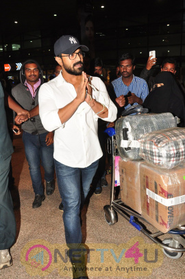 Actor Ram Charan Landed In Hyderabad Stills Telugu Gallery