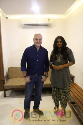 Vidya Balan Visits Anupam Kher Acting School To Motivate Students Photos