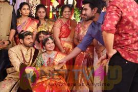 Celebs At Tejaswini & Mithun Sharath Wedding Function Pics