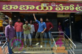 Actor Sumanth Ashwin At Babai Hotel Vijayawada Photos