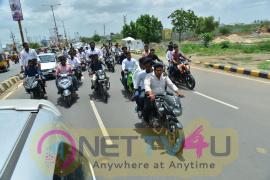Happy Weeding Movie Promotion Bike Rally In Guntur