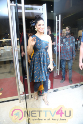 Actress Sunny Leone At PSV Garuda Vega Release Mission Event Stills Telugu Gallery