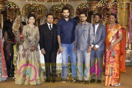 Producer Abinesh Elangovan Nandhini Wedding Reception Stills Tamil Gallery