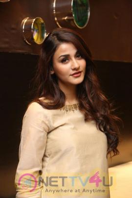 Actress Aditi Arya Cute Images At Kamar Film Factory Logo Launch