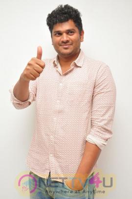 Jayammu Nischayammu Raa Movie Director Shiva Raj Kanumuri Interview Stills Telugu Gallery