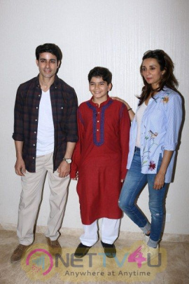 Gautam Rode With Ira Dubey And Child Artist Krish Dewan
