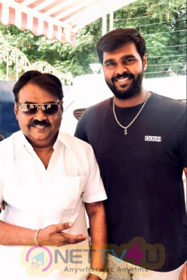 Captain Vijayakanth With Shanmuga Pandian Lovable Images