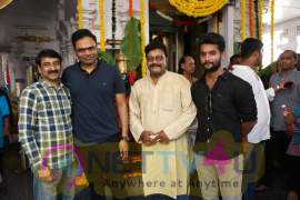 Sri Hanuman Movie Makers Adhi Saikumar New Movie Pooja Stills