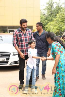 Mastrer Aarav Birthday Celebration In Tik Tik Tik Movie Success Meet Cute  Photos Tamil Gallery