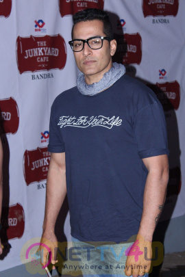 Arbaaz Khan At Launch Of Mumbai's First Junkyard Cafe Photos