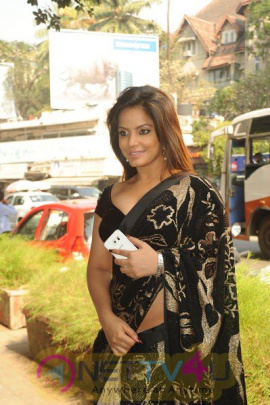 Neetu Chandra Attends Launch Of Fashion Designer Sandhya Singh's New Collection Stills
