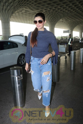 Actress Ihana Dhillon Spotted At Airport Exclusive Images Hindi Gallery