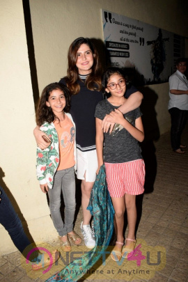 Actress Zarine Khan Spotted At Pvr Juhu Stills