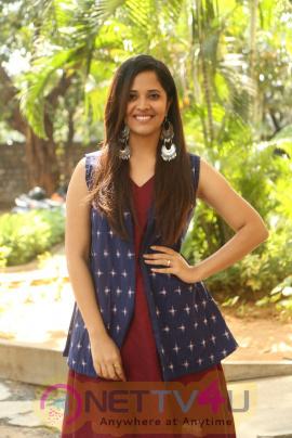 Actress Anasuya Bharadwaj At Sachindira Gorre Movie Press Meet Images Telugu Gallery