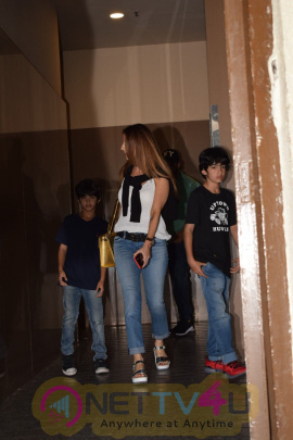 Hrithik Roshan With Family Spotted At Juhu Pvr  Stills Hindi Gallery