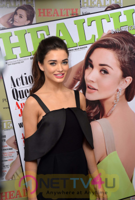 Actress Amy Jackson At Health Cover Launch Angelic Images