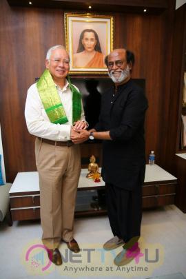 Malaysian PM Najib Razak Meet Superstar Rajinikanth Beautiful Pics Tamil Gallery