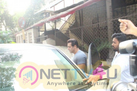 Salman Khan Came To Dubbing Studio