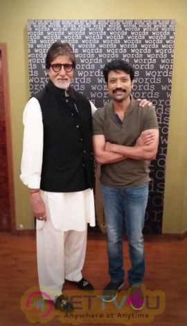 Amitabh Bachchan Debuts In Tamil Cinema With S J Surya - Uyarndha Manithan Photos