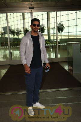 Angad Bedi  Spotted At The Airport Stills Hindi Gallery