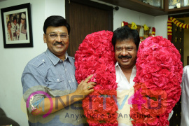 Actor & Director R Pandiarajan Sir Birthday Celebration With His Guru Bhagyaraj Sir Pics Tamil Gallery