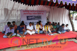Actor Aditya Om On Hunger Strike At Film Chamber Exclusive Photos Telugu Gallery