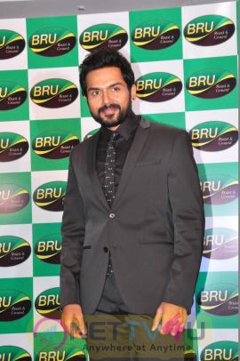 Actor Karthi Launches The New Pack Of BRU Roast & Ground Stills Telugu Gallery