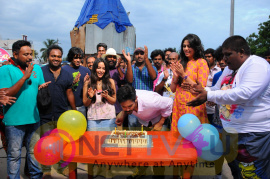 Actor Nakul Celebrated His Birthday On The Sets Of SEI Images Tamil Gallery