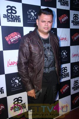 Actor Salil Ankola & Singer Shibani Kashyap At Akbar Sami Party Event Classic Photos