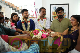Actor Santhanam's Next Untitled Movie Produced By VTV Productions Directed By Sethuraman Pooja Stills Tamil Gallery