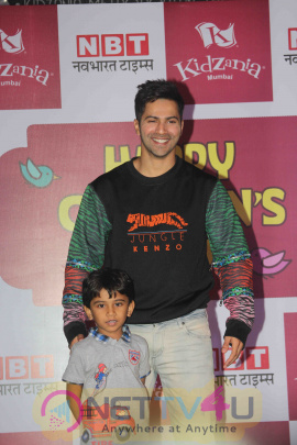 Actor Varun Dhawan Celebrates Children's Day At KidZania Mumbai Photos Hindi Gallery