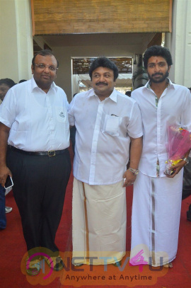 Actor Vikram Prabhu Movie Launch Exclusive Photos Tamil Gallery