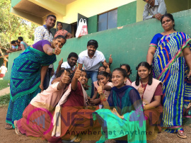 Actor Vishal Celebrates Childrens Day Attractive Photos Tamil Gallery