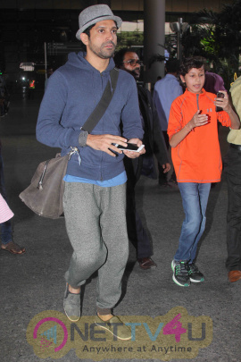 Actors Shraddha Kapoor, Farhan Akhtar And Arjun Rampal Spotted At The Chhatrapati Shivaji International Airport In Mumbai Photos