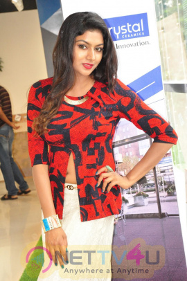 Actress Akshatha Bhardwaj Launched Lorven Tiles Classy Stills Telugu Gallery