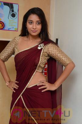 Actress Bhanu Sri Lovely Photos At Aavu Puli Madhyalo Prabhas Pelli Song Launch At Radio City